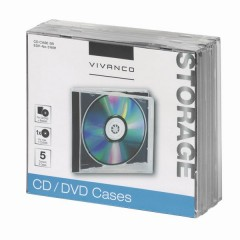 Vivanco CD CASE 5B 5 St / Schwarz