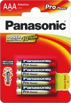 Panasonic Batterien Pro Power Thekendisplay Micro 24 Stk.